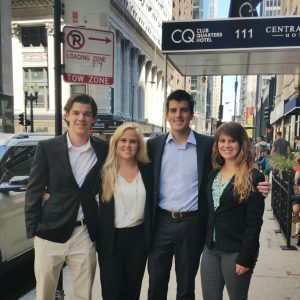 AIN Plastics and new Inside Sales Representative Aaron enjoy a little time in downtown Chicago